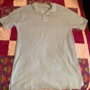 Pale blue women's Ralph Lauren polo shirt Medium